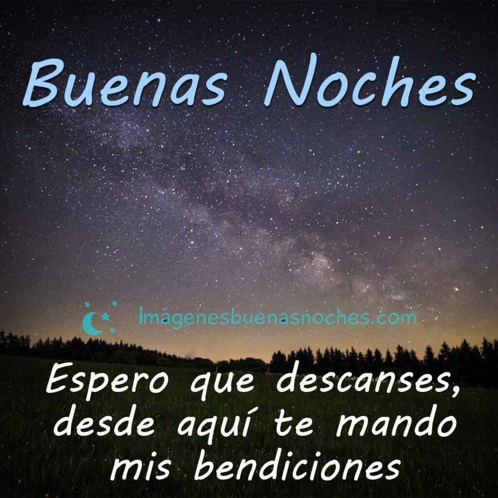 Frases buenas noches bendiciones