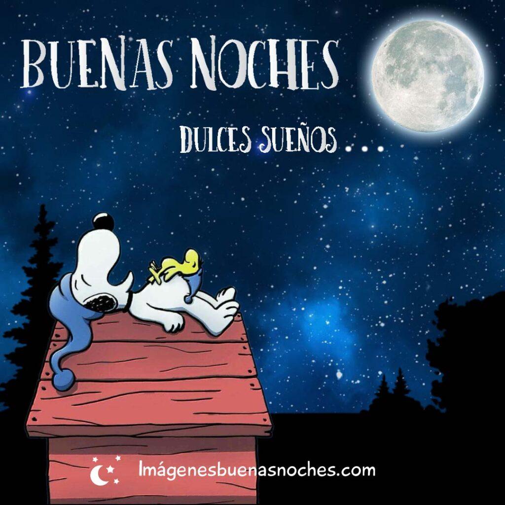 Snoopy buenas noches dulces sueños